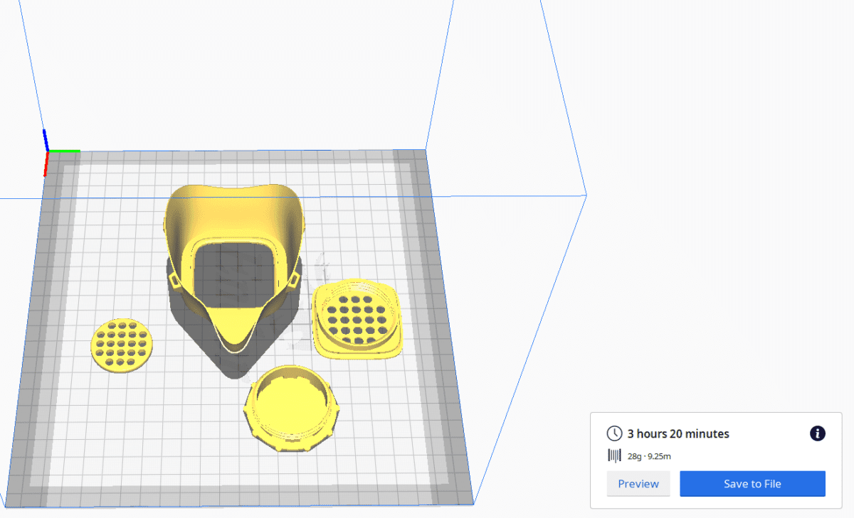How Fast is 3D Printing - COVID19 Mask - 3D Printerly