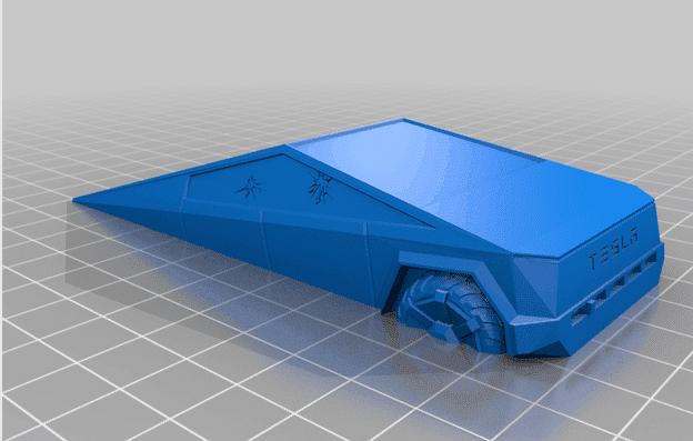 Tesla Cyber Truck Doorstop 3D Printed