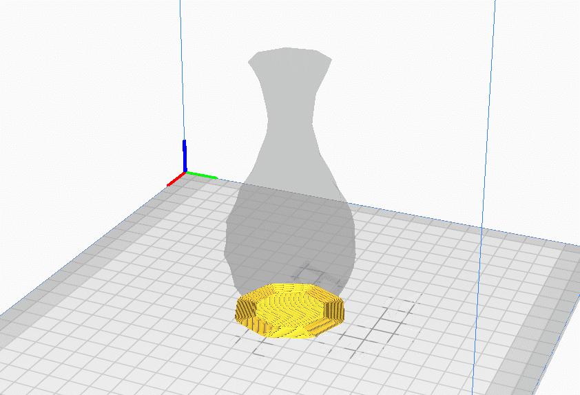 Low Poly Vase Brim - 3D Printerly