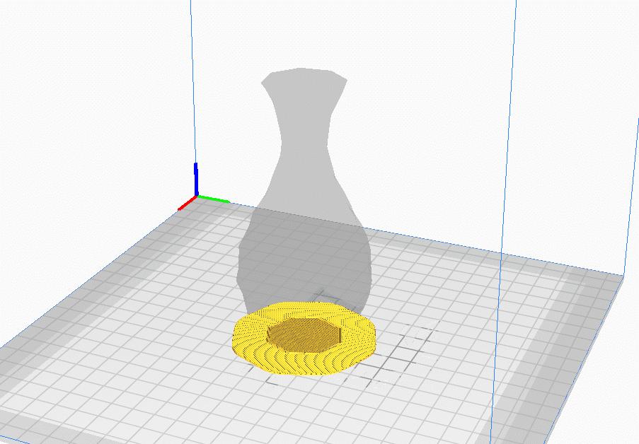 Low Poly Vase Raft - 3D Printerly
