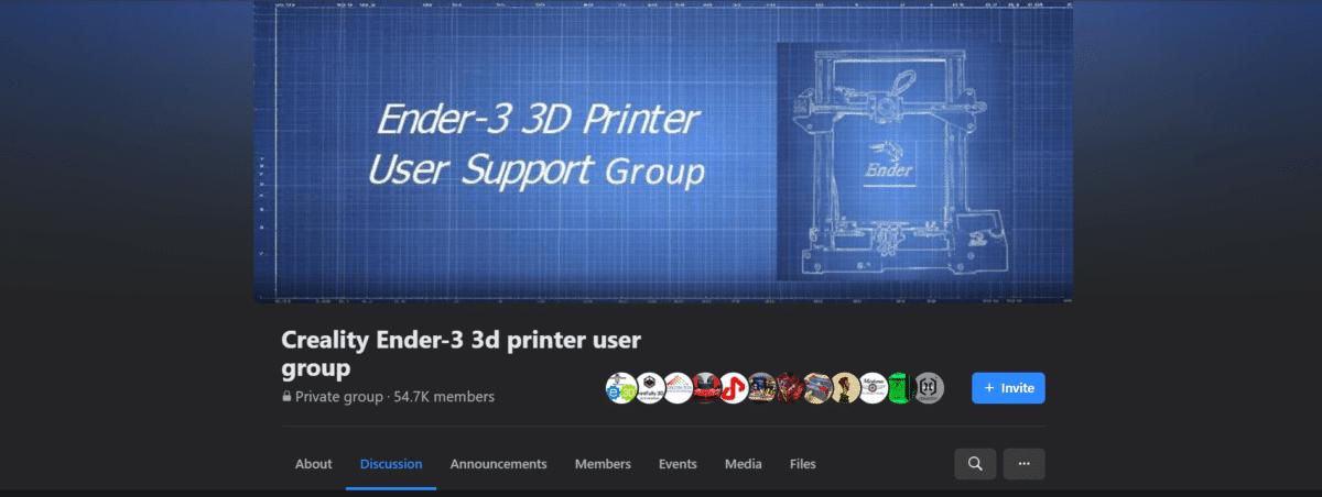 Creality Ender 3 Facebook Group - 3D Printerly