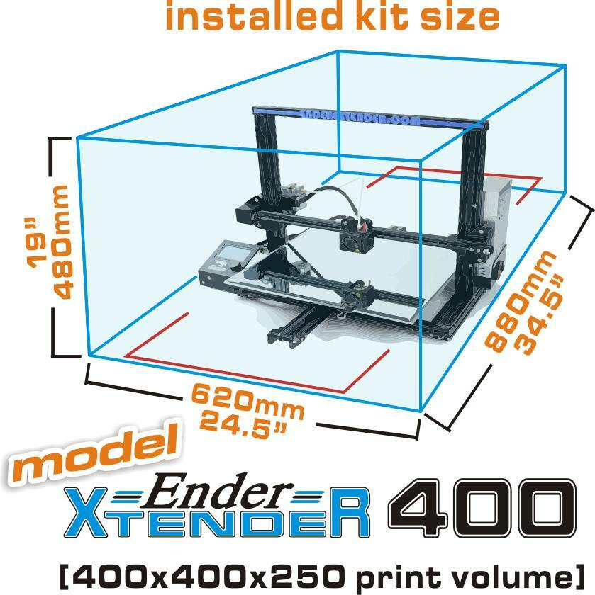Make Ender 3 Bigger - Ender Extender 400 Dimensions - 3D Printerly