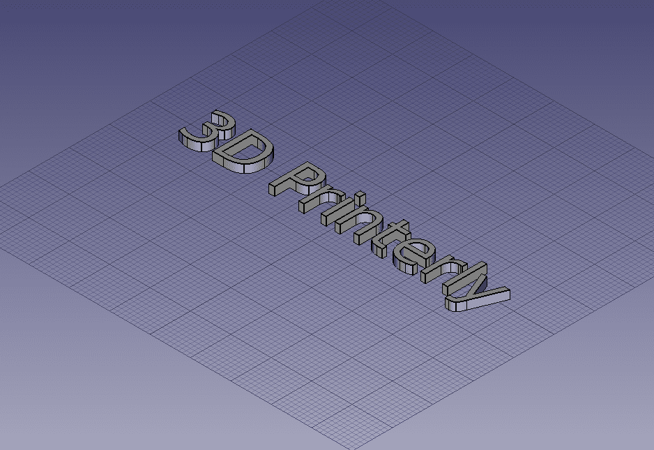How to Make 3D Text - FreeCAD - 3D Printerly