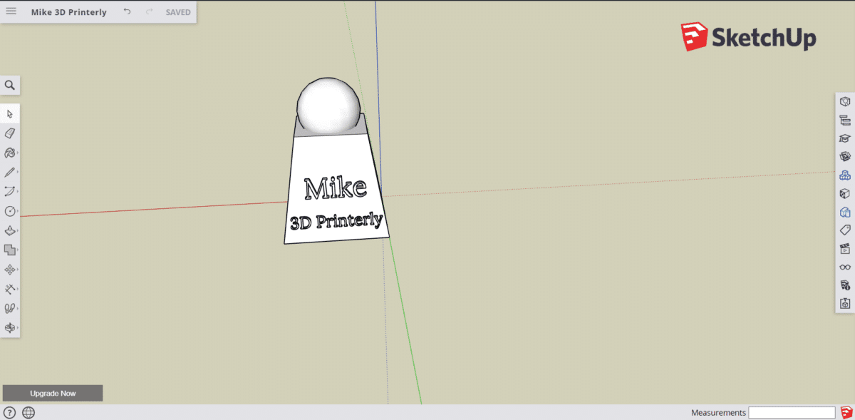 How to Make 3D Text - SketchUp App - 3D Printerly
