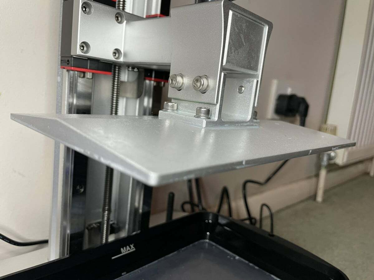 Anycubic Photon Mono X Review - Aluminum Build Plate - 3D Printerly
