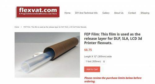 Cheap Alternative to FEP Film - FlexVat - 3D Printerly