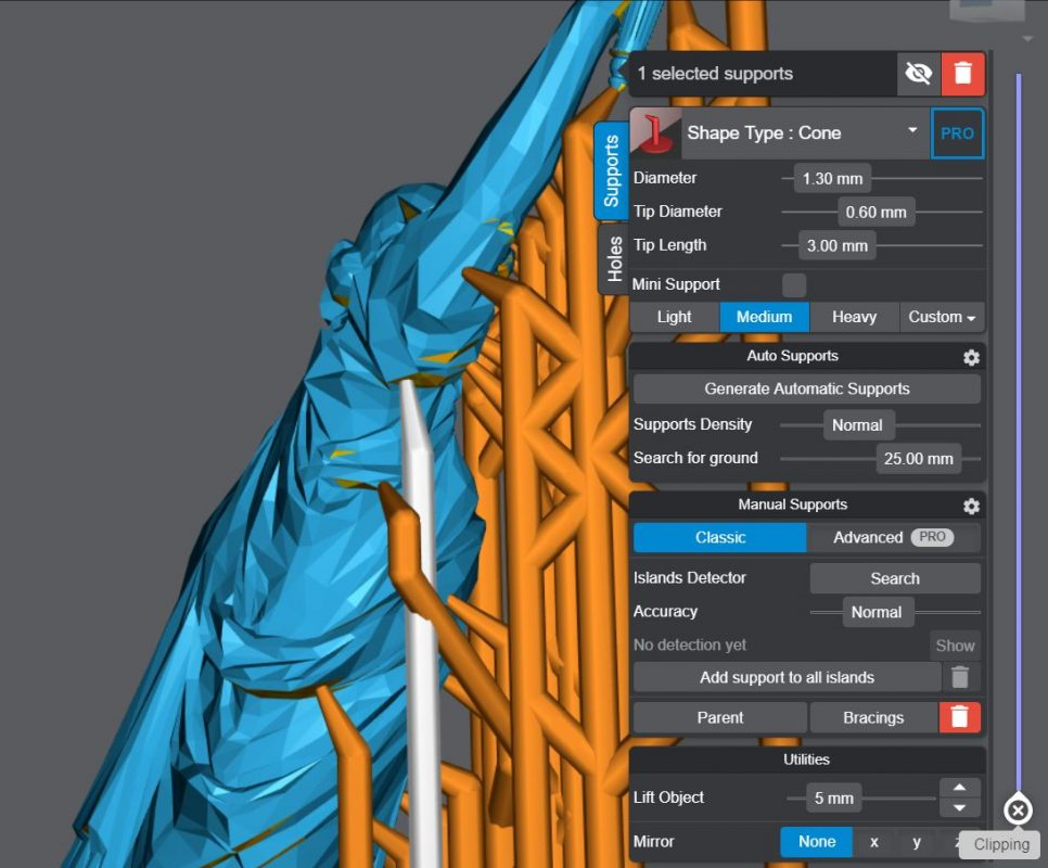 How to Add Supports - Lychee Slicer Manually Add Supports - 3D Printerly