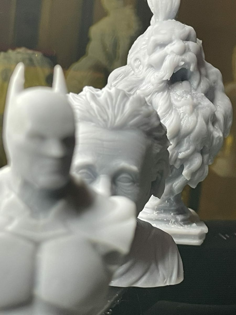 Photon Mono X Review - Grey Resin Prints Close Up - 3D Printerly