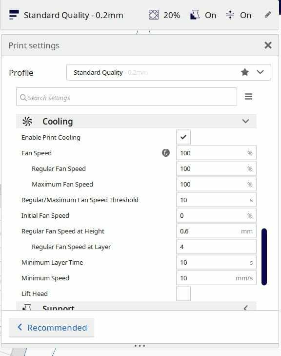 3D Printer Fan Settings - Cura Cooling Settings - 3D Printerly