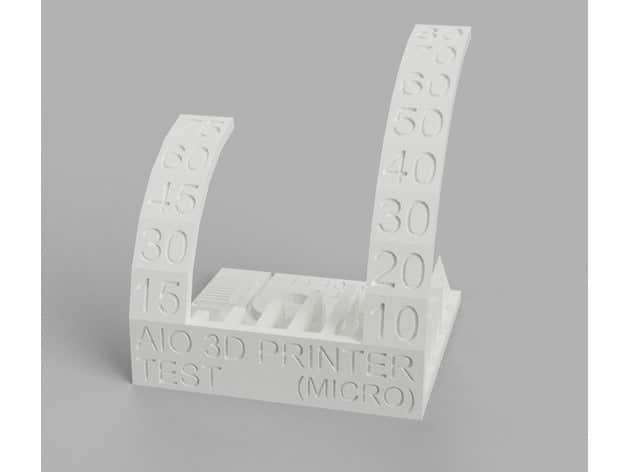 Calibrate New 3D Printer - Micro All-in-One Test - 3D Printerly