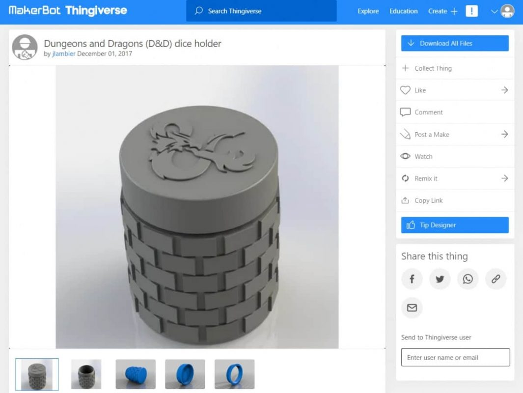 30 Cool Things to 3D Print for Dungeons & Dragons - Dice Holder - 3D Printerly