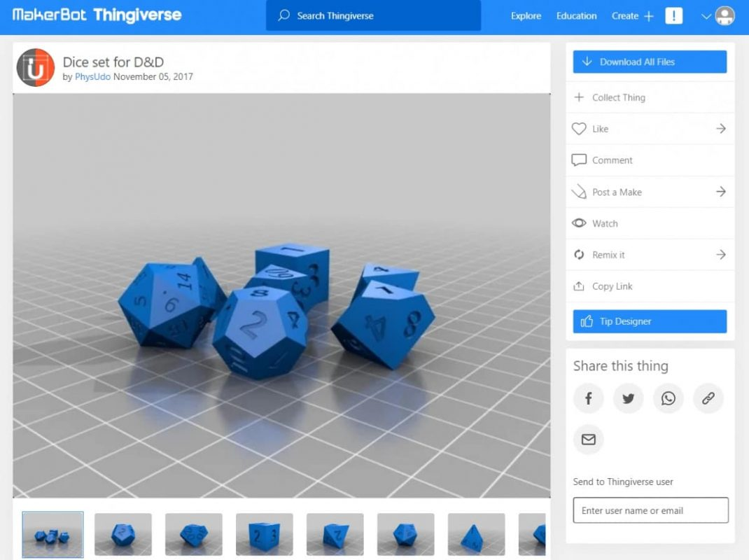 30 Cool Things to 3D Print for Dungeons & Dragons - Dice Set - 3D Printerly