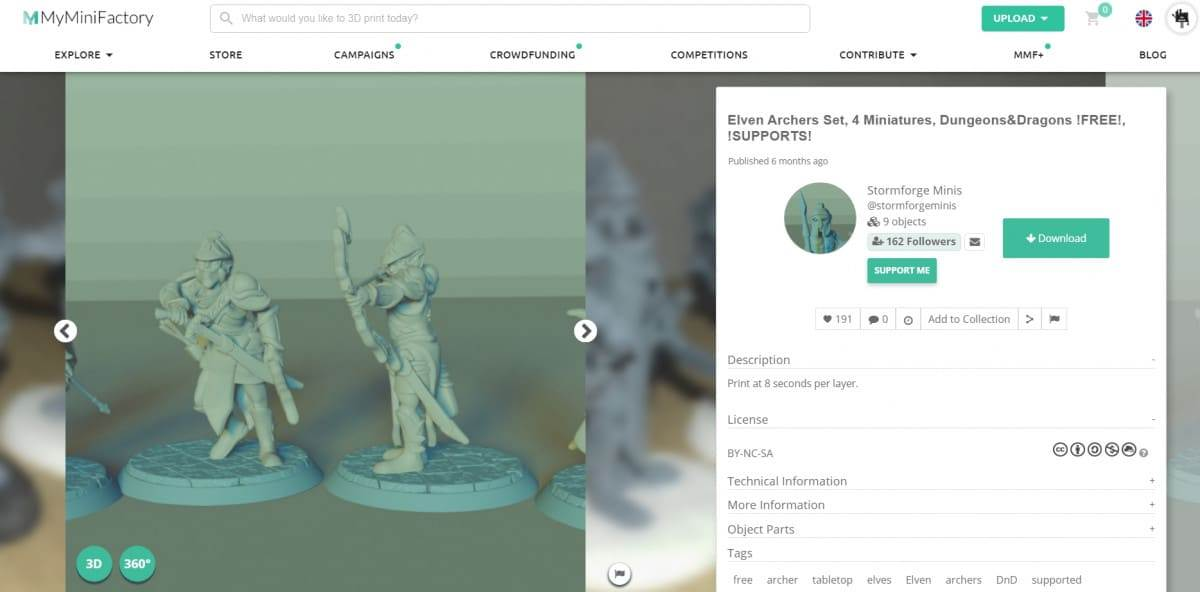 30 Cool Things to 3D Print for Dungeons & Dragons - Elven Archers Miniatures - 3D Printerly