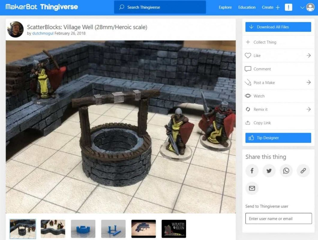 30 Cool Things to 3D Print for Dungeons & Dragons - Scatterblocks - Village Well - 3D Printerly