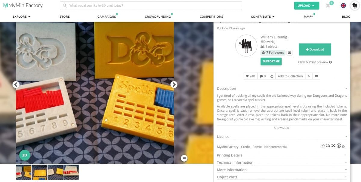 30 Cool Things to 3D Print for Dungeons & Dragons - Spell Trackers - 3D Printerly