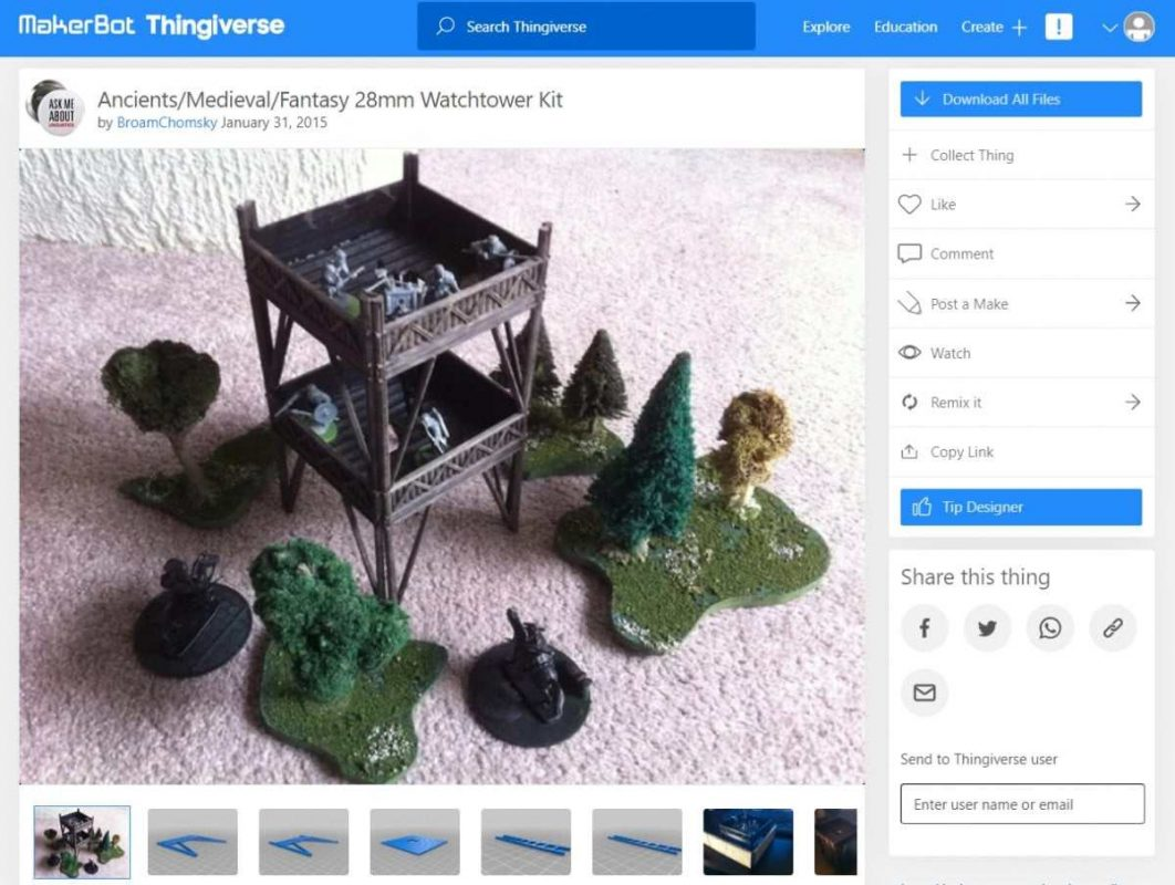 30 Cool Things to 3D Print for Dungeons & Dragons - Watchtower Kit - 3D Printerly