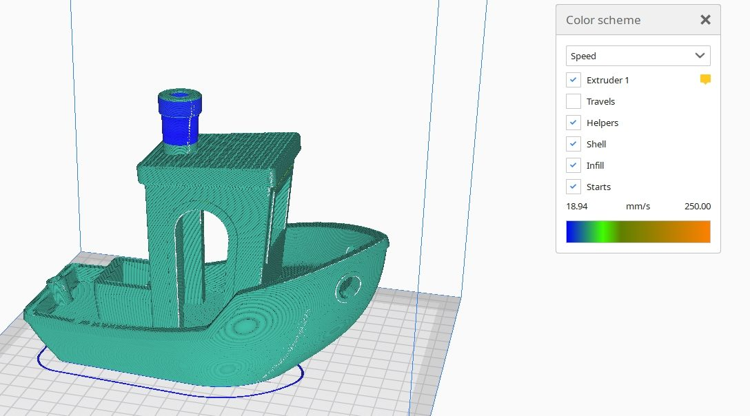 How to Improve 3D Benchy Quality - Preview Travel Speed Cura - 3D Printerly