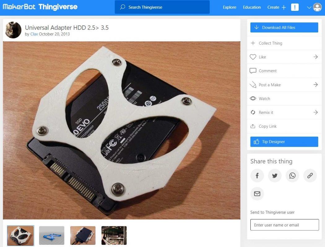 3D Printed Computer & Laptop Accessories - HDD Adaptor & Converter - 3D Printerly