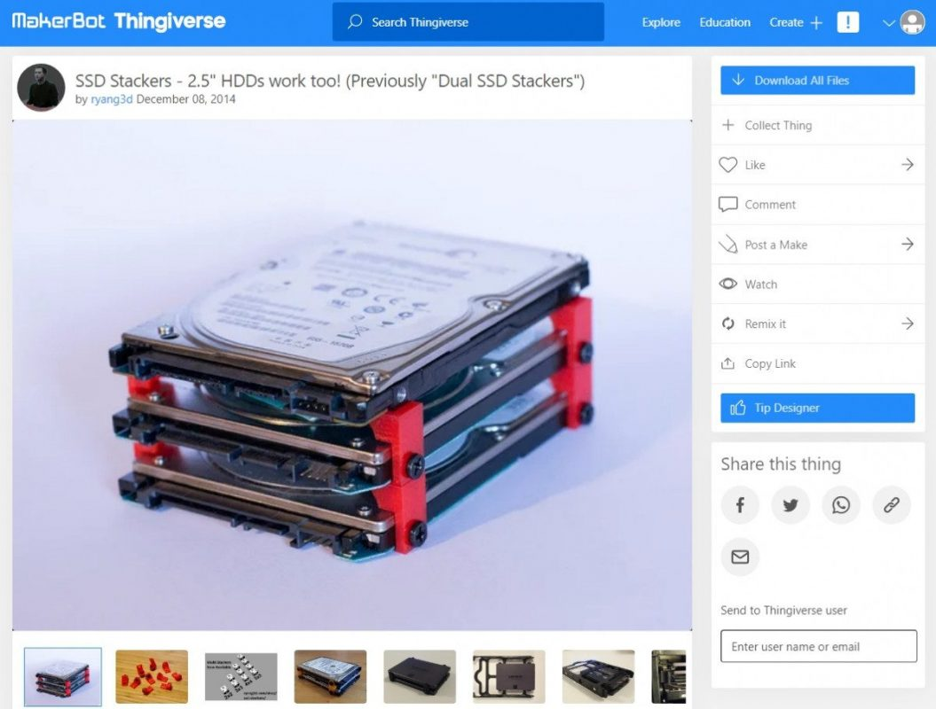 3D Printed Computer & Laptop Accessories - HDD & SSD Stacker - 3D Printerly