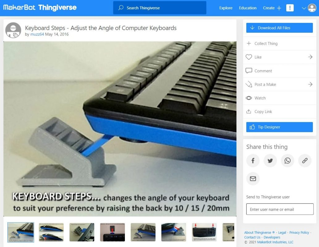 3D Printed Computer & Laptop Accessories - Keyboard Steps - 3D Printerly