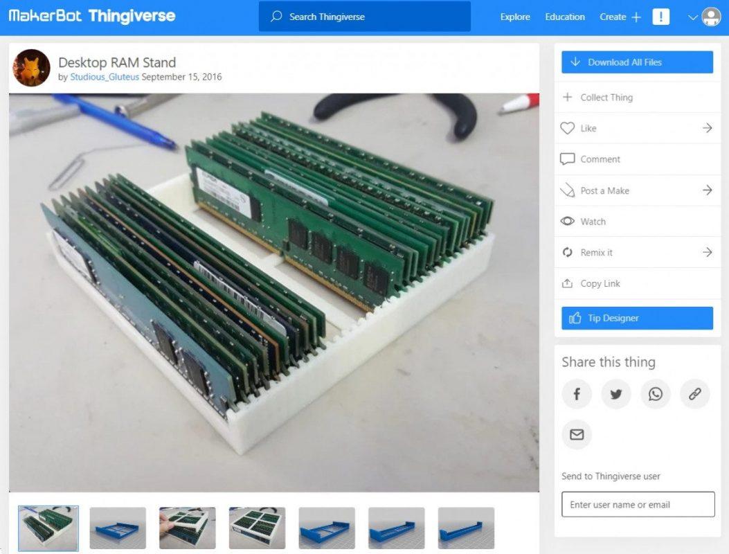 3D Printed Computer & Laptop Accessories - RAM Stacker - 3D Printerly