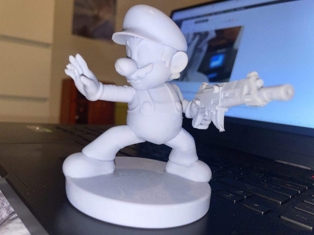 Voxelab Proxima 6.0 Review - Mario with Gun - 3D Printerly