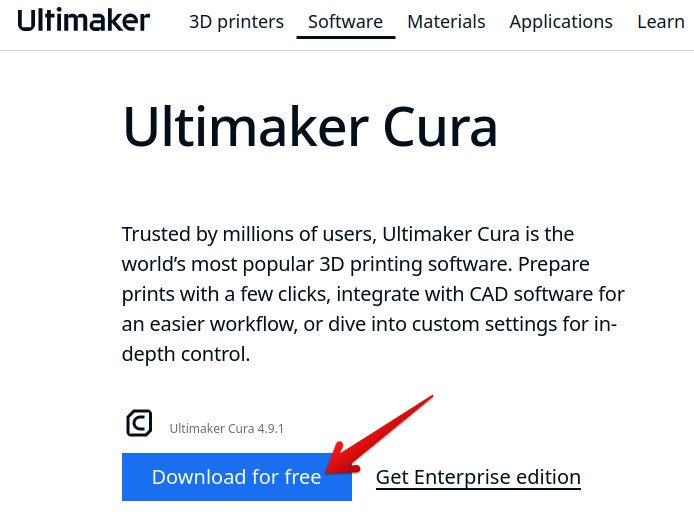 Downloading the Cura AppImage