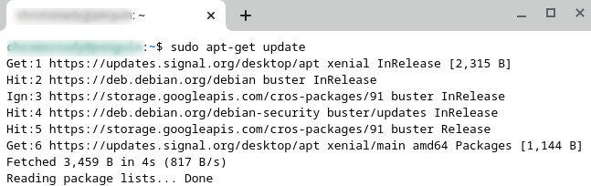 Updating the Linux Terminal
