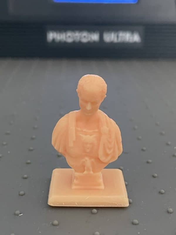 Anycubic Photon Ultra Review - Caesar Model Closeup - 3D Printerly