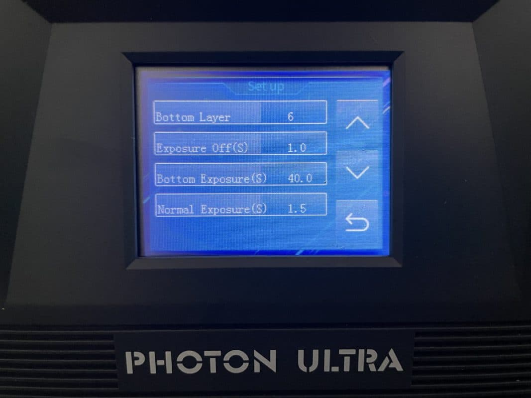 Anycubic Photon Ultra Review - Change Settings While Printing - 3D Printerly