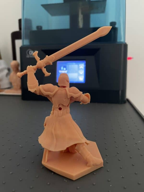 Anycubic Photon Ultra Review - Knight Print 1 - 3D Printerly