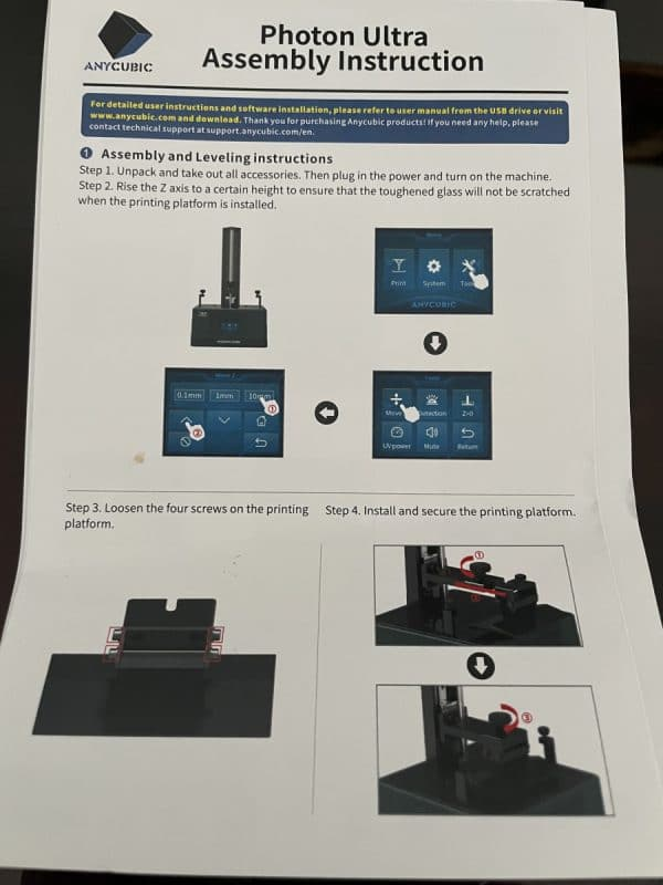 Anycubic Photon Ultra Review - Photon Ultra User Manual - 3D Printerly