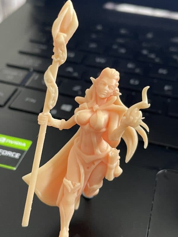 Anycubic Photon Ultra Review - Witch Print Closeup 2 - 3D Printerly
