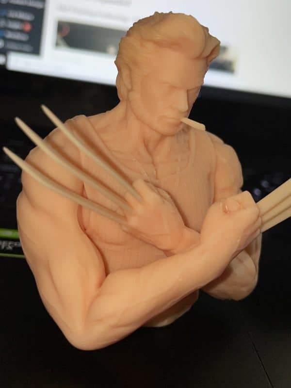 Anycubic Photon Ultra Review - Wolverine Model Closeup 2 - 3D Printerly