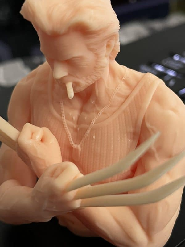 Anycubic Photon Ultra Review - Wolverine Model Closeup - 3D Printerly