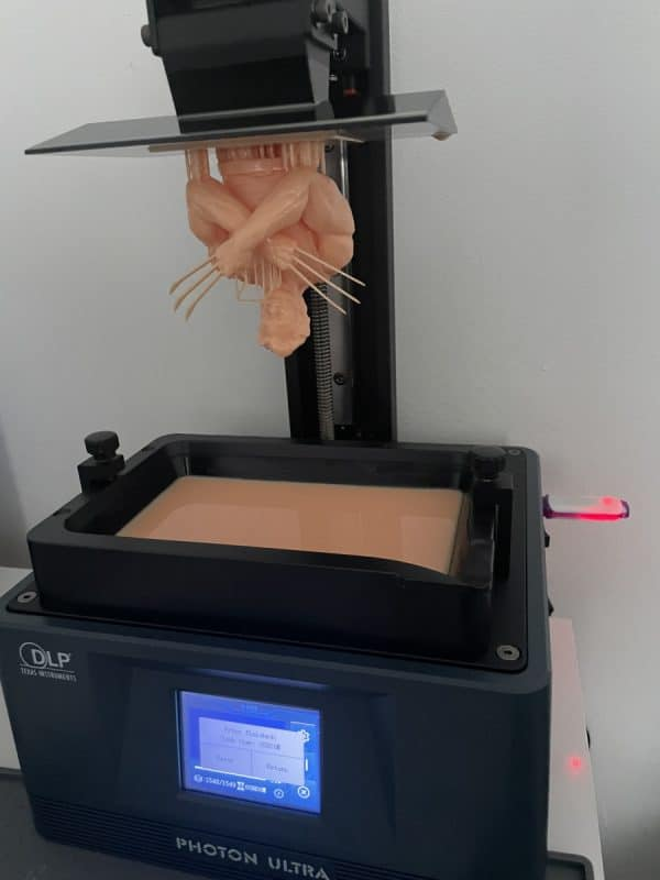 Anycubic Photon Ultra Review - Wolverine Test Print Success 1 - 3D Printerly
