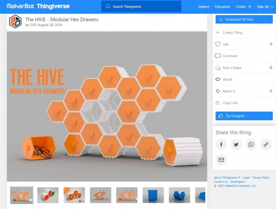 How to 3D Print Joints - The HIVE - Modular Hex Drawers - 3D Printerly