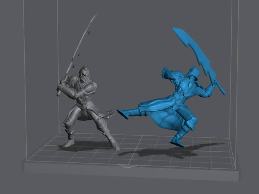 How to Orient Resin 3D Prints - Orientation of Knight in Lychee Slicer - 3D Printerly