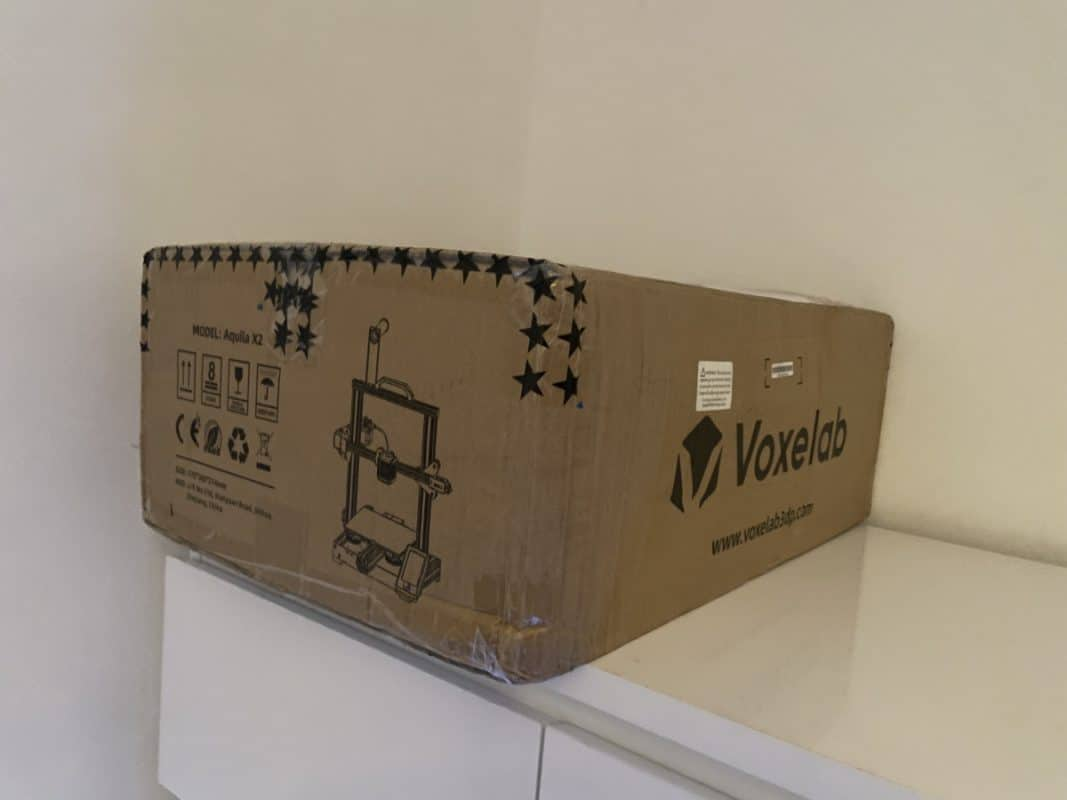 Voxelab Aquila X2 Review - Boxed Package - 3D Printerly