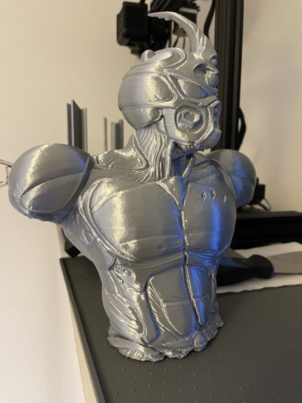 Voxelab Aquila X2 Review - Large Grey Guyver Print 2 - 3D Printerly