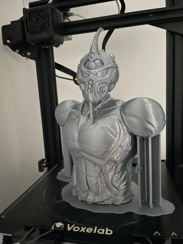 Voxelab Aquila X2 Review - Large Grey Guyver Print - 3D Printerly