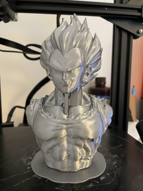 Voxelab Aquila X2 Review - Large Grey Vegeta Print 2 - 3D Printerly