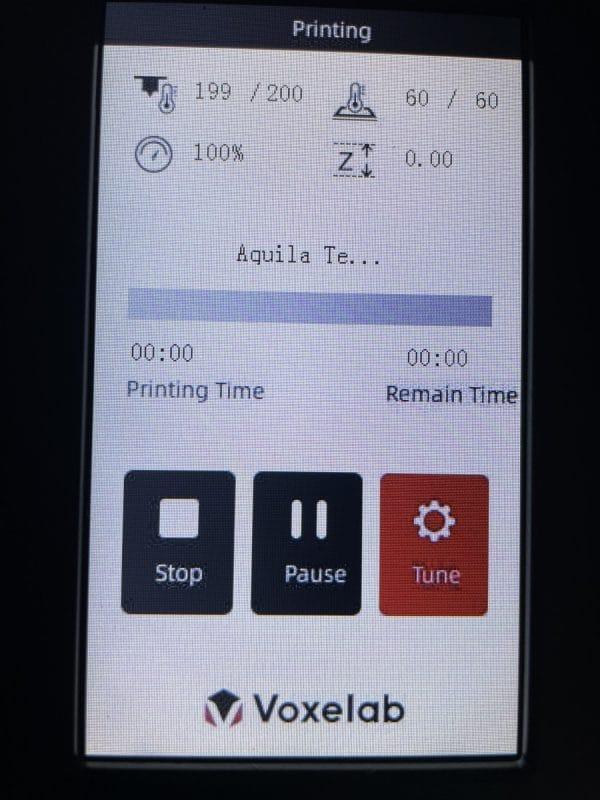 Voxelab Aquila X2 Review - Start Test Print - 3D Printerly