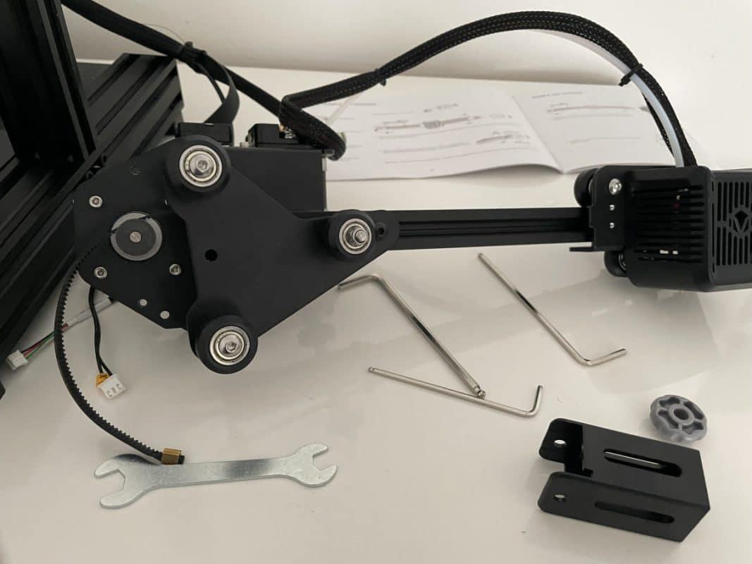 Voxelab Aquila X2 Review - X Gantry Front - 3D Printerly